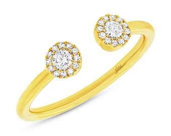 14k Gold Diamond Open Ring 130-315