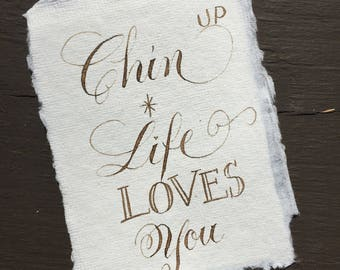 Life LOVES You! Keepsake - Hand-lettered Calligraphy Memento