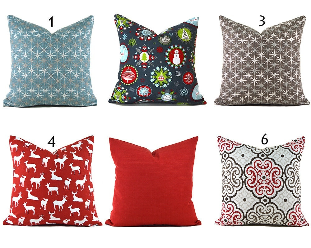 Throw Pillow Insert Sizes : Red Pillow Covers ANY SIZE Decorative Pillows Pillow Inserts