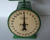 Large Vintage Green Hanson Scale