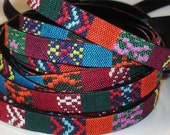 """12mm Flat Fabric Cording//Woven Fabric Cording//DIY Fabric Bracelet Cording// 36"""" Jewelry making fabric cording//by Color Kissed Silk LLC."""