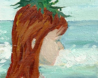 Seaweed Crown - limited edition print of an original oil painting