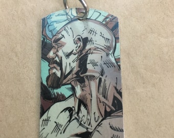 Zsasz upcycled comic book dog tag, includes necklace or key ring. Zsasz dog tag. Zsasz keychain.