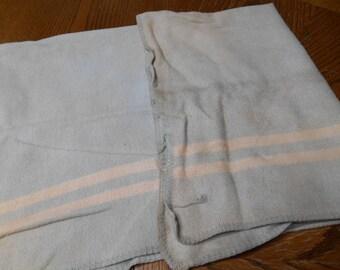Very old Vintage Cotton Baby Infant Blanket