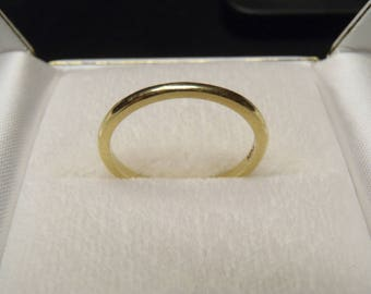 Designer HIDALGO Solid 18K Yellow Gold Vintage Wedding Band Stacking Ring