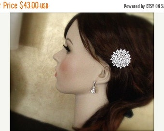 SALE - Wedding, Accessories, Crystal Hair Comb, Swarovski Crystal Comb, Bridal Hair Comb, Crystal Head Piece, Crystal Hair Piece