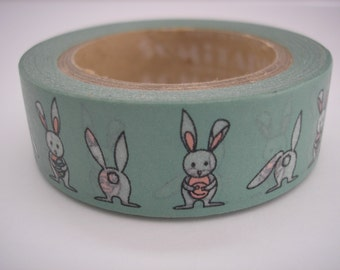 Bunny Rabbit Washi Tape - Paper/Scrapbook Washi Tape - Decorative/Crafting Tape - Packaging Supplies - 15mmx10m