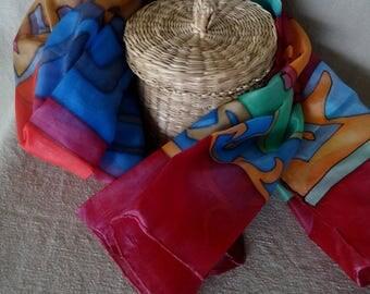 Silken handmade scarf