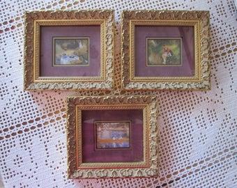 3 wooden frames / Vintage 3 wooden frames