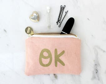 OK Coin Purse - Typography Money Pouch