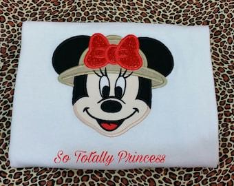 Embroidered Safari Minnie Mouse shirt/Personalized shirt/Birthday shirt