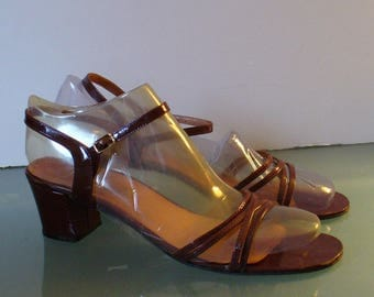 Vintage Pappagallo Made in Italy Strappy Sandals Size 8.5 N US