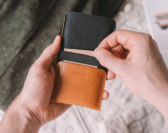 "LG G6 Sleeve, LG G6 Wallet, leather, wool felt, ""Kangaroo"", by band&roll"