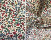 Destash fabric sale   Ditsy floral print calico cotton fabric by the yard