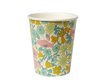 Liberty Poppy & Daisy Canape Cups - Floral flowers baby shower bridal shower birthday paper cups