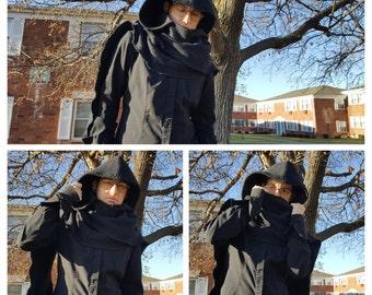 Kylo Ren Inspired Basketweave Scarf with Hood