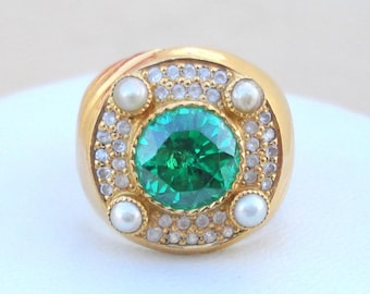 Rare!! Vintage Antique 18 Carat Gold Ring Huge India