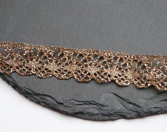 Metalic Gold Cluny Lace Trim 20mm Wide Per Metre ---1---