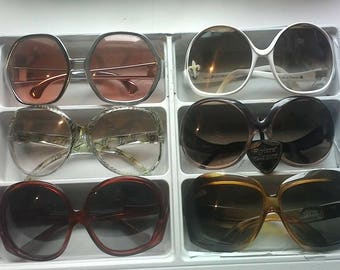 Great collection of sunglasses ex large vintage 70s new price'