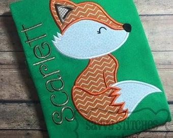 Fox Machine Embroidery Applique Design