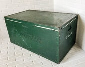 Vintage Military Trunk Air Force Shipping Crate Coffee Table Storage Chest