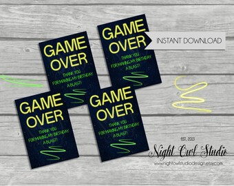 Laser Tag Favor Tags, Laser Tag Birthday Party-INSTANT DOWNLOAD