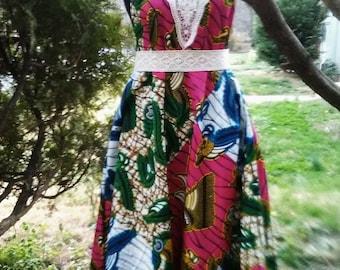 Free Spirit Asymmetrical Maxi Dress with Pockets...Choose a Color