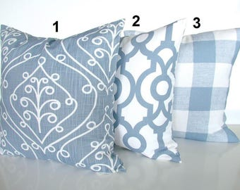 blue buffalo check pillows blue throw pillow covers cashmere blue plaid pillow covers decorative throw pillows