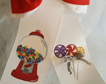 Boutique I Want Candy Handpainted Hairbow