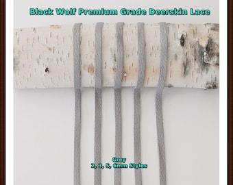 Deerskin Leather (Grey) Lace Premium Grade.  All Styles, Deerskin Lace, Deerskin Leather, Deerskin Hide, Deerskin, Leather, Crafts