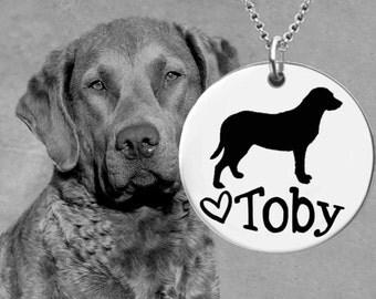 Chesapeake Bay Retriever Necklace   Personalized Dog Necklace   Personalized Gift   Korena Loves