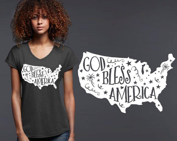God Bless America | God Place the USA | USA Shirt | 4th of July | Patriotic Shirt | Quotes | Inspirational T-shirt | Korena Loves