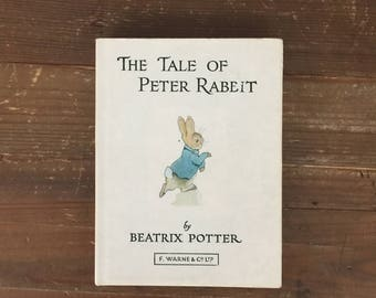 The Tale of Peter Rabbit by Beatrix Potter  (1910 Edition) Classic children's literature Vintage Hardcover Copy from 1910!