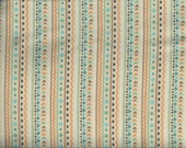 Teepee Time flannel fabric - geomoetric design vertical stripes cream brown orange teal - Northcott Deborah Edwards - by continuous YARD