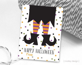 Fill In Halloween Tags Halloween Favor Tags Witch Tags Digital Tags Instant Download Halloween Printable Tags Kids Halloween Tags Witch Legs