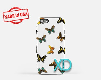 Butterfly Pattern iPhone Case, Bug iPhone Case, Butterfly iPhone 8 Case, iPhone 6s Case, iPhone 7 Case, Phone Case, iPhone X Case, SE Case