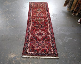 Persian Rug - 1990s Hand-Knotted Karaja Persian Rug Runner (3586)
