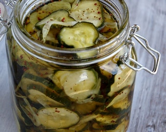 Refrigerator Bread and Butter Pickles RECIPE No Canning Equipment Needed!!