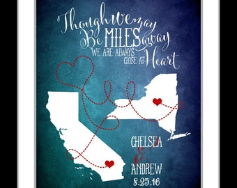 Valentine gifts for couple custom valentines gift 1st valentines gift long distance love gift, girlfriend him and her valentines map print