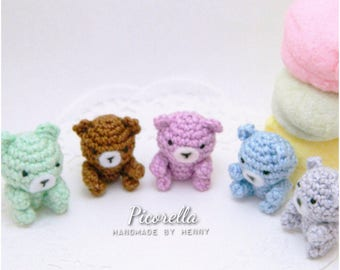 Mini Amigurumi Bear, Mini Crochet Bear, Crochet Teddy Bear, Amigurumi Teddy Bear, Teddy Bear Keychains, Teddy Bear Charms