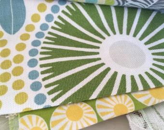 Fabric bundle of citrus colours