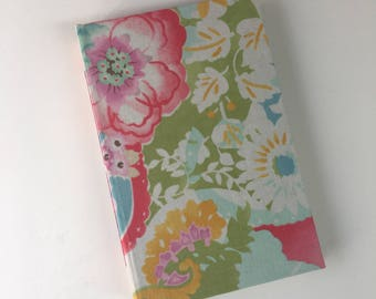 Floral Pocket Size, Sketch Book, Bullet Journal, Writing Journal, Blank Journal, Notebook, Travel Journal, Sketchbook Diary 4.5  x 7 in