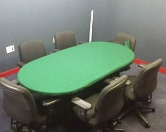 Poker Felt Cover For Any Round Table With Leaf Insert