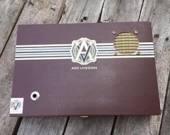 Cigar Box Bluetooth Speaker, Guitar Amplifier, Wired Speaker, Handmade Portable Amp - Avo Uvezian