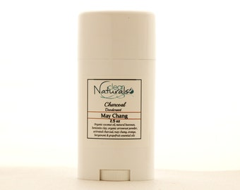 Natural Deodorant - May Chang Deodorant with Activated Charcoal