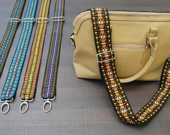 Guitar Strap Style Handbag Strap - CITRINE Style - Adjustable Bag Strap - FREE Expedited Shipment, Suitasble for Handbags and Messenger Bags
