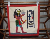 Egyptian Wall Hanging Pillow Cover Handcrafted