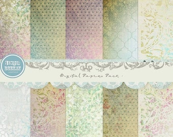 ON SALE Digital Papers ( 12 x 12 inches ) Pack vol.8 - INSTANT Download