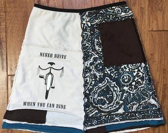 Upcycled tshirt Skirt, Upcycled clothing, t-shirt skirt, Women's upcycled clothing, recyced skirt, repurposed clothing