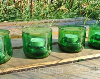 Pellegrino Bottle Tea Lights with Raised Bases